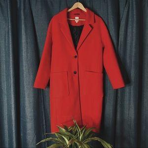 🌻MOVING SALE🌻 Long Twik Wool Feel Coat